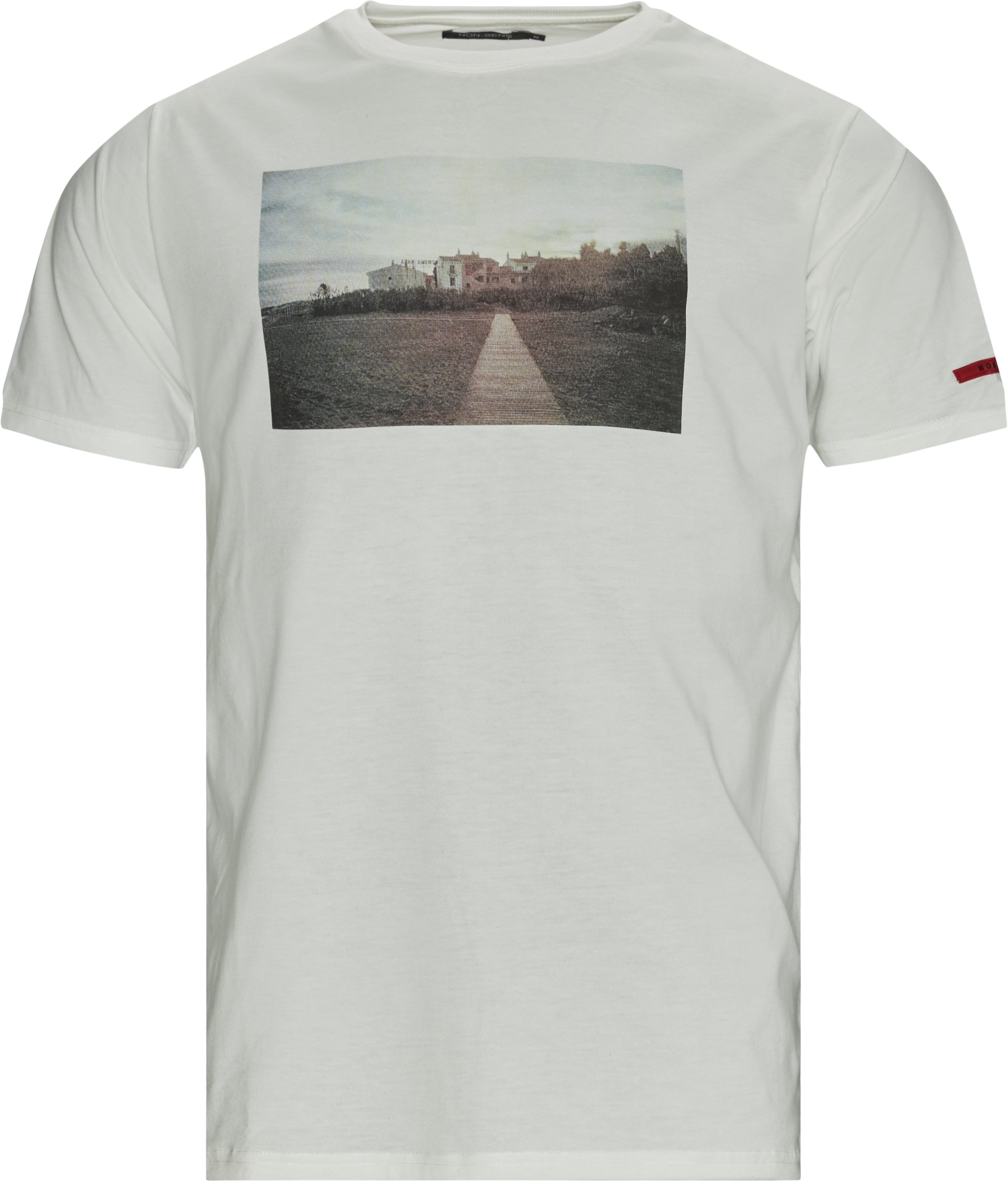 Beach T-shirt - T-shirts - Regular fit - Hvid